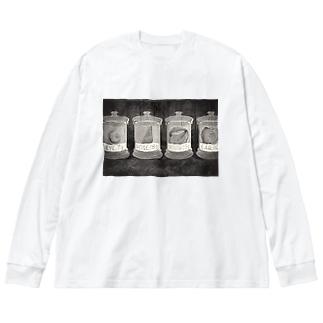 ホルマリンニ漬ケラレタ人間 Big silhouette long sleeve T-shirts