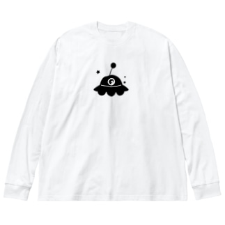 UFO Big silhouette long sleeve T-shirts