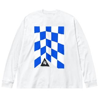 電気街の撮影会 Big silhouette long sleeve T-shirts