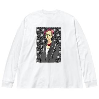 クールくん Big silhouette long sleeve T-shirts