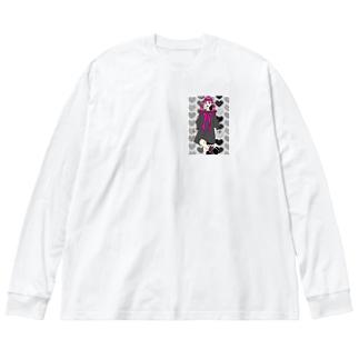 キューティーガール Big silhouette long sleeve T-shirts