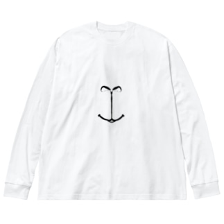 ハナクチ(モルモット) Big silhouette long sleeve T-shirts