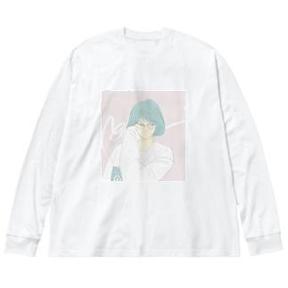 city girl Big silhouette long sleeve T-shirts