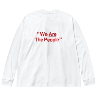 """""""We Are The People"""" Big silhouette long sleeve T-shirts"""