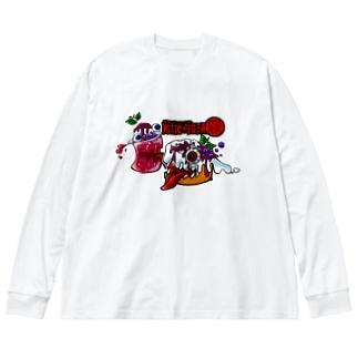 紅いクリームソーダとKillerシフォン Big silhouette long sleeve T-shirts