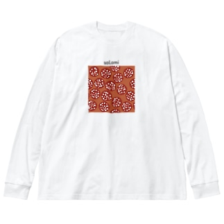 スライスサラミ Big silhouette long sleeve T-shirts