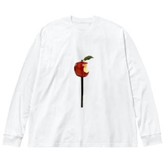 赤りんご Big silhouette long sleeve T-shirts