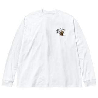MOKU MOKU Big silhouette long sleeve T-shirts