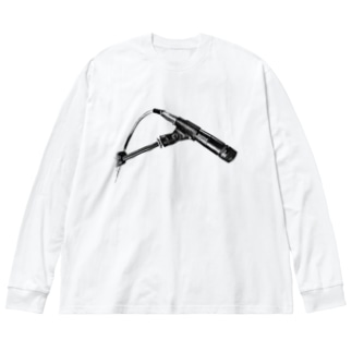 No.57  Black Big silhouette long sleeve T-shirts