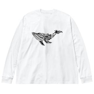 つかだ かおりのBotanical-Whele Big silhouette long sleeve T-shirts