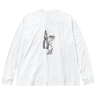 迷えるハンドメイド作家 Big silhouette long sleeve T-shirts