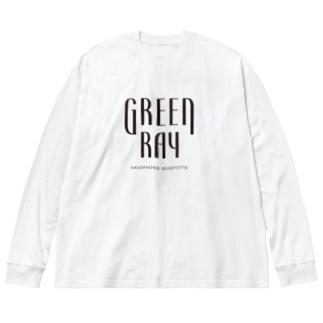 【黒ロゴ】ぐりんれい Big silhouette long sleeve T-shirts