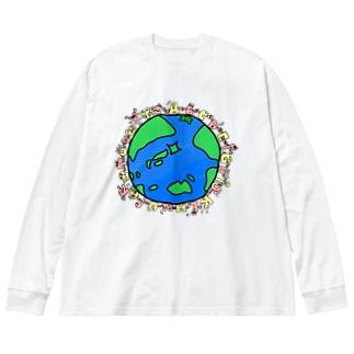 みんなで作った54T🌏・フチなし Big silhouette long sleeve T-shirts