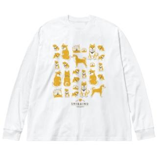 赤柴たくさん Big silhouette long sleeve T-shirts