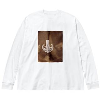 【ラテアート】リーフ Big silhouette long sleeve T-shirts