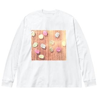 【コーヒー豆】レトロなキャンディービーンズ Big silhouette long sleeve T-shirts