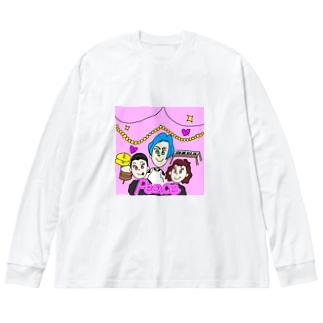 いしはらファミリー Big silhouette long sleeve T-shirts