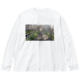 サクラトンネル Big silhouette long sleeve T-shirts