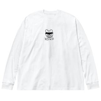 ベアだべあ Big silhouette long sleeve T-shirts