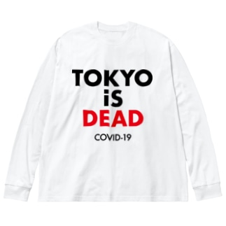 TOKYO iS DEAD  COVID-19 Big silhouette long sleeve T-shirts
