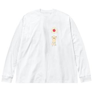 ようせいのおぢさんと教祖のりんごさま Big silhouette long sleeve T-shirts