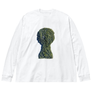 箸墓古墳(シンプルver.) Big silhouette long sleeve T-shirts