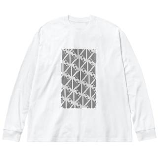 気ままに創作 よろず堂のサーヴィエ行進曲 燻銀 Big silhouette long sleeve T-shirts