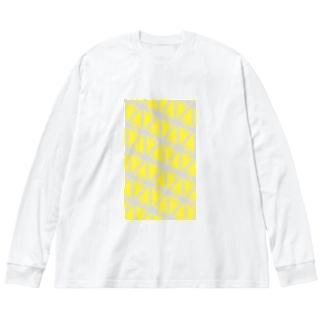 サーヴィエ行進曲 檸檬 Big silhouette long sleeve T-shirts