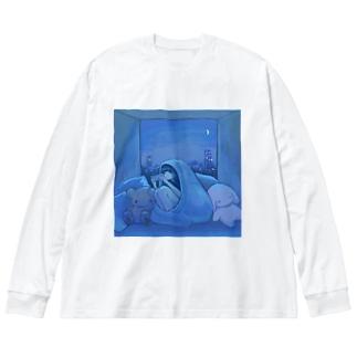 game night Big silhouette long sleeve T-shirts
