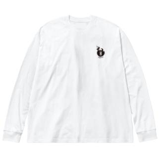 かっこいいホットパワーズの方(改) Big silhouette long sleeve T-shirts