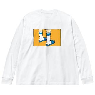 ディス イズ かかと Big silhouette long sleeve T-shirts