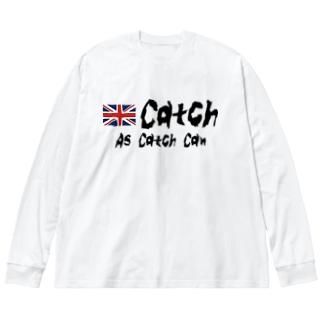 キャッチレスリング Big silhouette long sleeve T-shirts