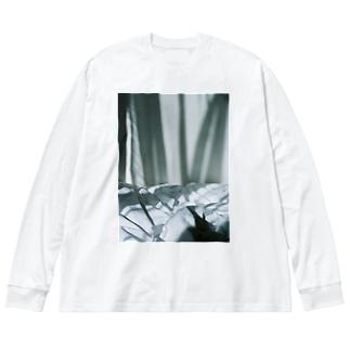 harucamera dawn Big silhouette long sleeve T-shirts