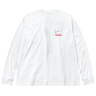 YURUINUちゃん Big silhouette long sleeve T-shirts