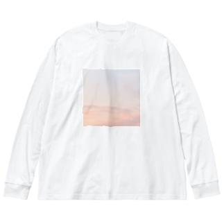 空を纏う Big silhouette long sleeve T-shirts