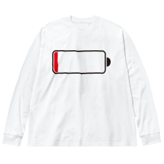 out of battery Big silhouette long sleeve T-shirts