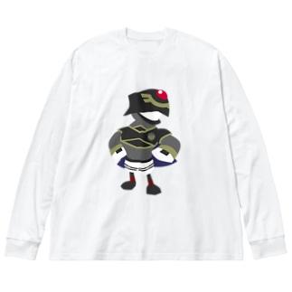あつまれ烏合ノ森 Big silhouette long sleeve T-shirts