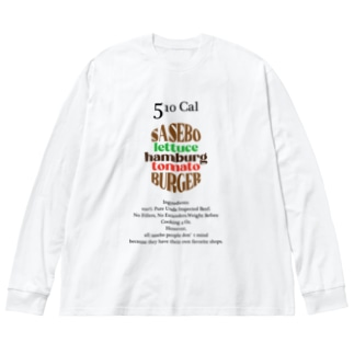sasebo バーガー Big Long Sleeve T-shirt