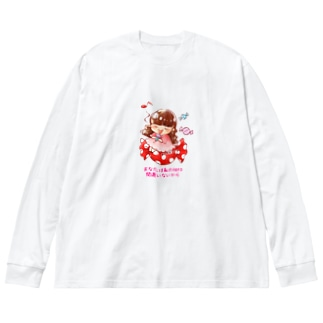 キャンディーおしのちゃん Big silhouette long sleeve T-shirts