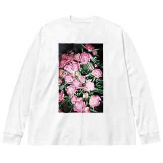 harucamera シャクヤク Big silhouette long sleeve T-shirts