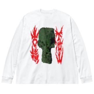 下池山古墳 Big silhouette long sleeve T-shirts