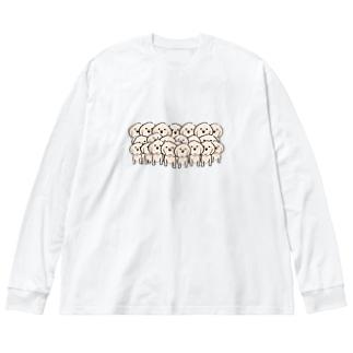 ふぁみりー Big silhouette long sleeve T-shirts