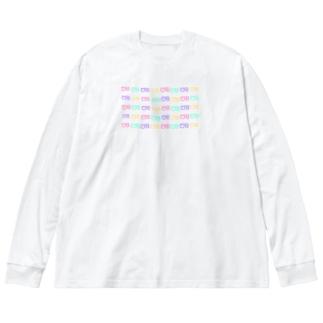 クマバチ集合体 Big silhouette long sleeve T-shirts