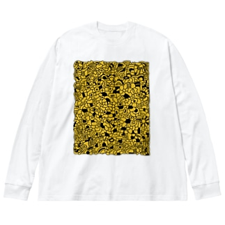cells あさのまぶしさ Big silhouette long sleeve T-shirts