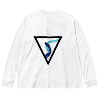 蛇▽蛇 Big silhouette long sleeve T-shirts