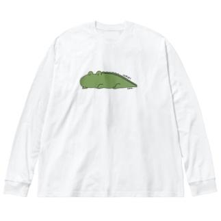 ワニくんリラックス Big silhouette long sleeve T-shirts