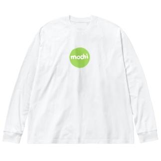 もち!もち! Big silhouette long sleeve T-shirts