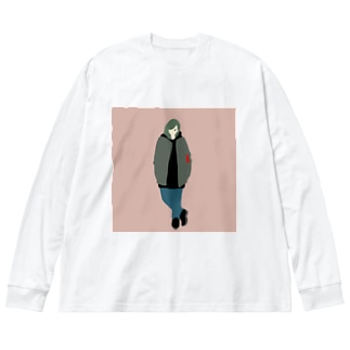 kyo_no_yosooi Big silhouette long sleeve T-shirts