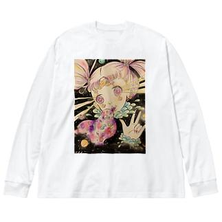 吐き気がするほどロマンチック Big silhouette long sleeve T-shirts