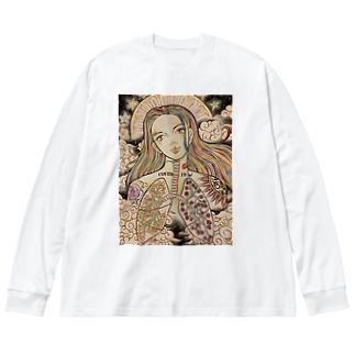 教祖・校長 Big silhouette long sleeve T-shirts